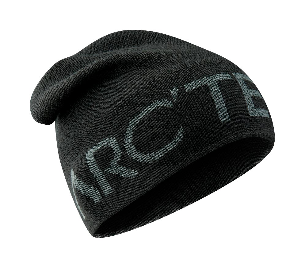 Arcteryx Black Word Head Long Toque